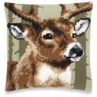 Deer Quickpoint Pillow Top