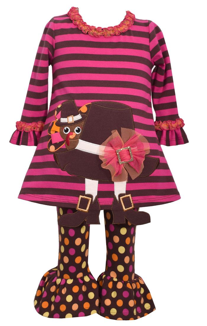 Bonnie Jean turkey hat legging set