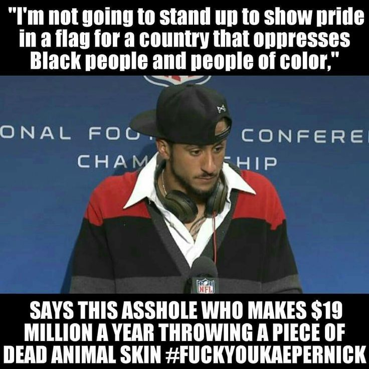 49ers 2nd string quarter back Colin Kaepernick is such a pos that does not have the courage to be a good player and become a starter. This Muslim bastard gets the 2016 idiot of the year award.