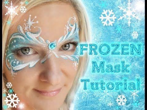 Frozen Snowflake Face Painting Tutorial  http://www.facepaintforumshop.com/?Click=2590 Makeup #frozen #facepaint #party
