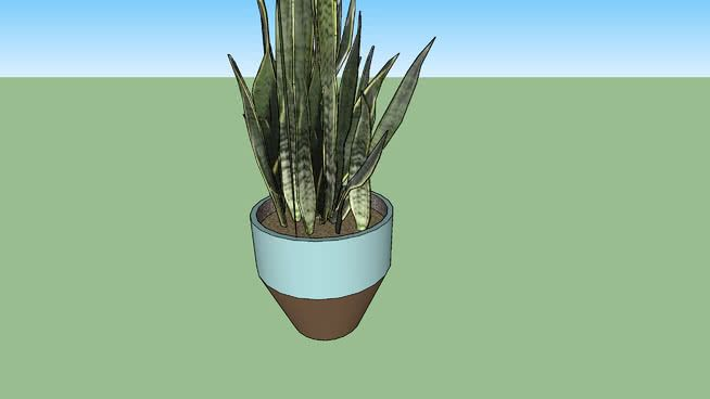 Large preview of 3D Model of Crate & Barrel Carnivale Large Aqua Planter