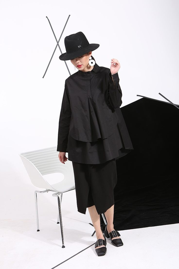 [Soonyour] 2017 осень плюс размер рубашки женщины блузки С Длинным рукавом белого свободные топы черная рубашка большой размер C006111 купить на AliExpress
