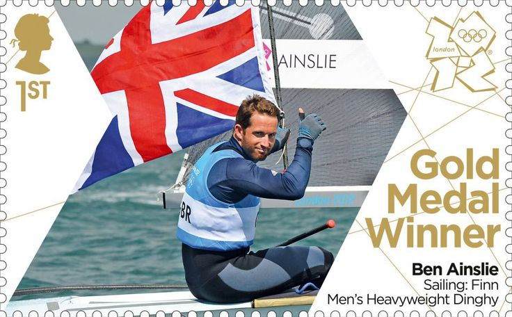 Team GB Gold Medal Winners 1st Stamp (2012) Sailing: Finn Men's Heavyweight Dinghy - Team GB Gold Medal Winners