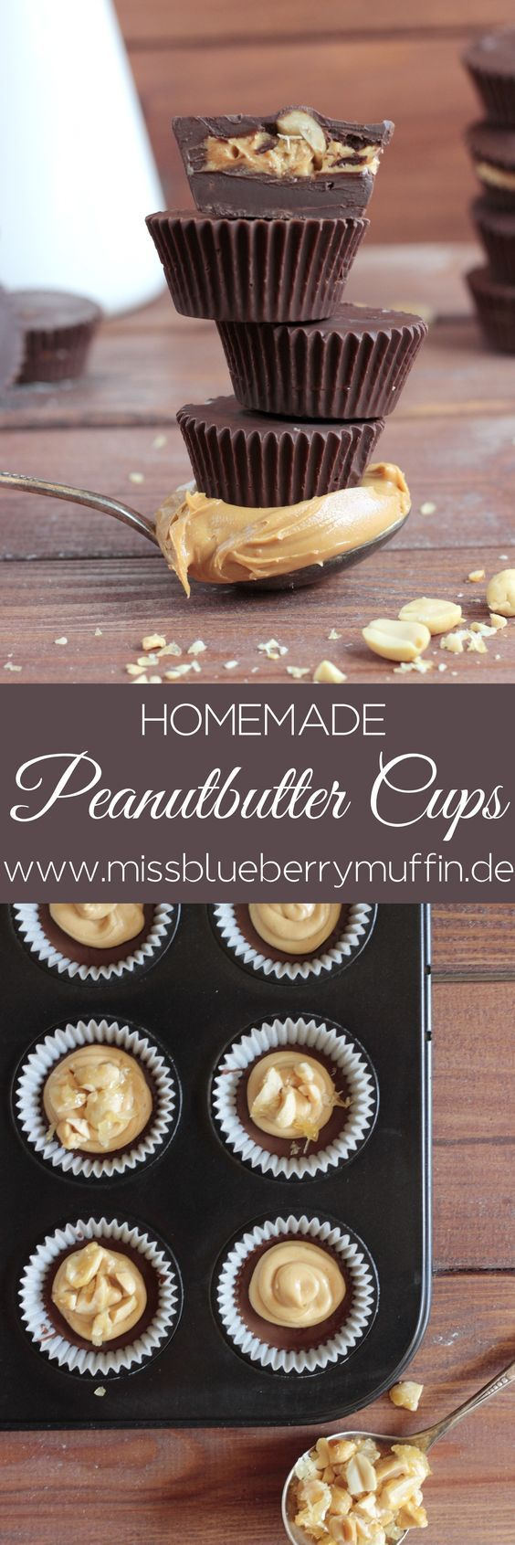 Peanutbutter Cups mit karamellisierten Erdnüssen selber machen // Homemade Peanutbutter Cups with caramelized peanuts <3