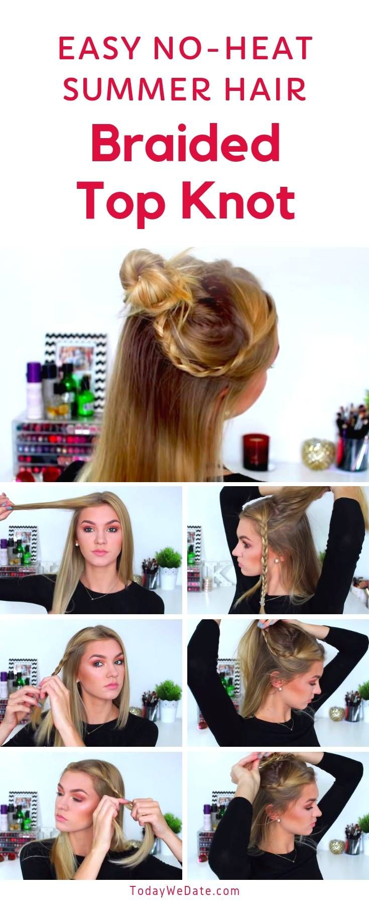 7 no-heat easy summer hairstyles anyone can pull off in 5