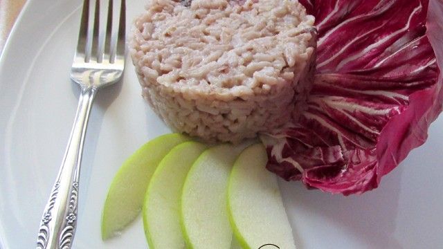 50 sfumature di…mela – Risotto radicchio e mela