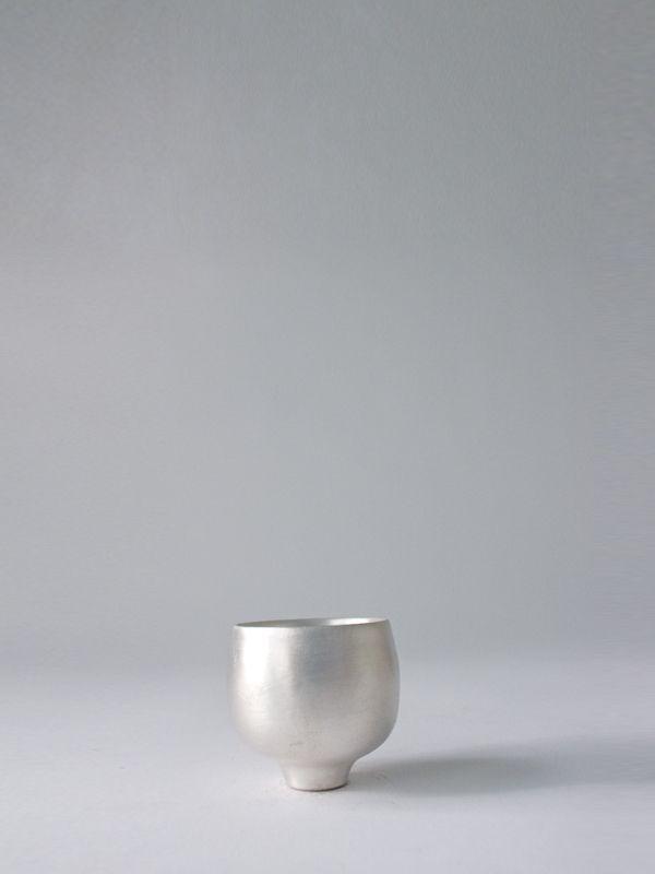Silver sake cup - RYOTA AOKI POTTERY ONLINE STORE