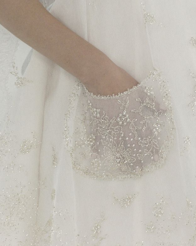 Delicately embroidered chiffon at Chanel. Haute Couture, Spring/Summer 2005.