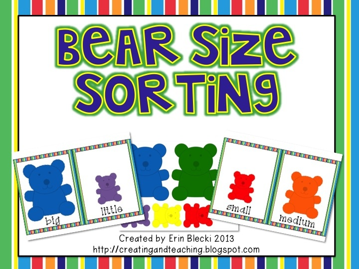 Here's a set of materials for sorting bears by size.