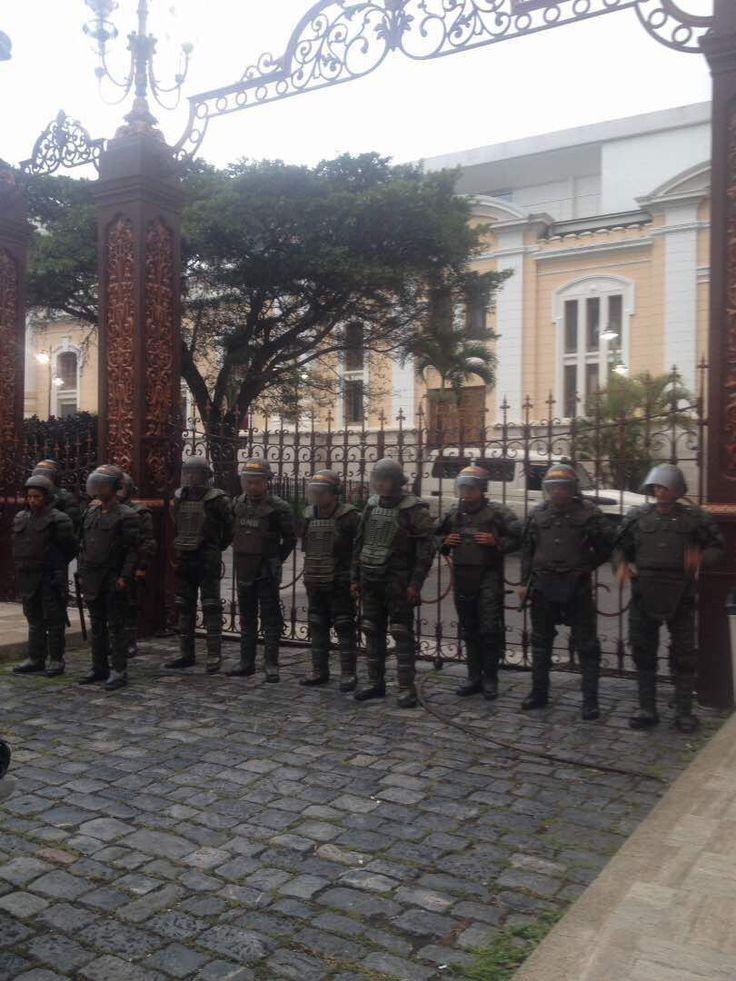 Asamblea Nacional amanece militarizada hoy 18 de Julio del 2017 - Hora 0