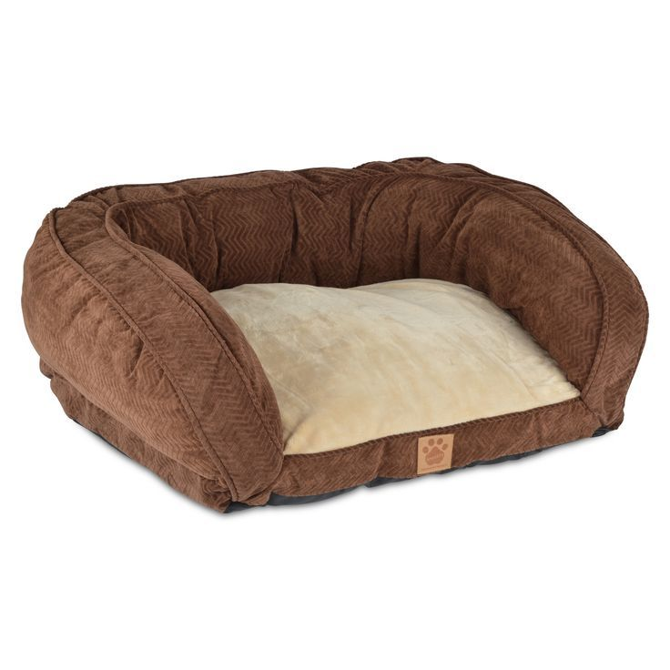 Snoozzy Chocolate Gusset Couch Pet Bed Medium Brown Couch Pet