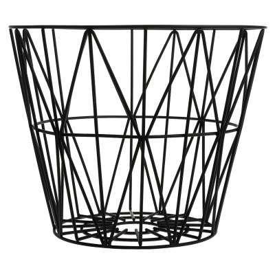 ferm living korb wire schwarz - Fantastisch Tolles Dekoration Ferm Living Korb