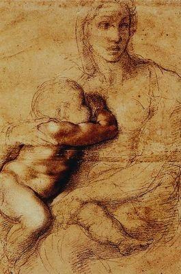 Vierge à l'enfant, par Michel-Ange