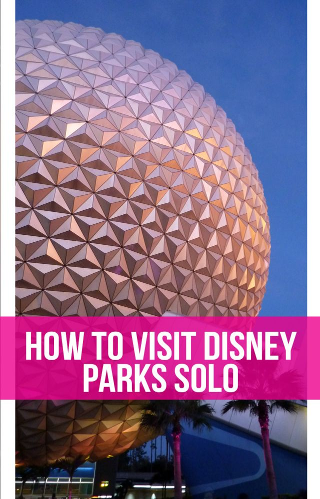 Tips and tricks from a former Cast Member for making the most of your solo trip to a Disney park. Includes photos from Walt Disney World and Disneyland.