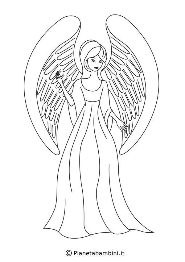 Oltre 25 fantastiche idee su decorazioni natalizie per la for Angeli da colorare stampare