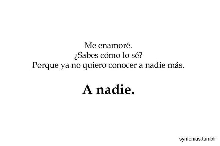 A nadie! solo te quiero a ti