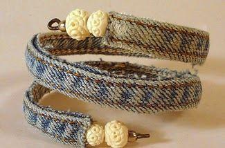 Repurpose Old Jeans … Make a Wire Bracelet