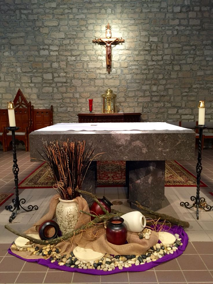 102 best worship scapes images on pinterest altar for Lent decorations for home