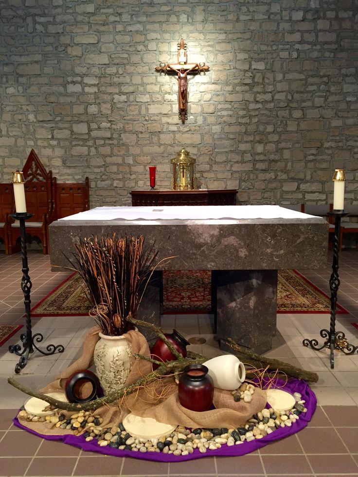 St. Joan of Arc Catholic Church, Powell, OH. Lent art & environment, 2016.