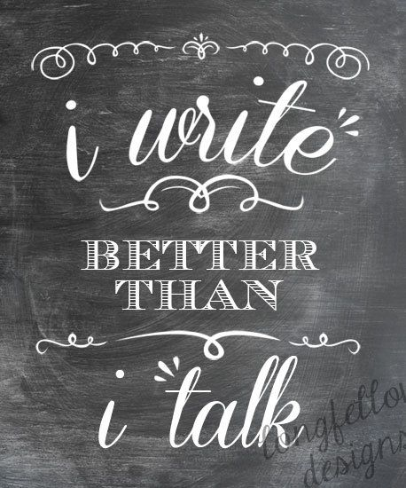 lol and I think better than I write…if I never fix the broken connections you will just have to trust me on that! :)
