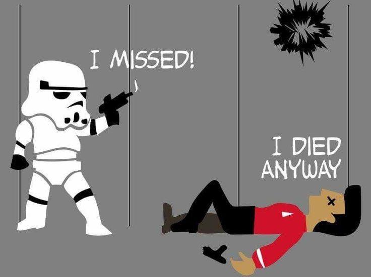 Haha! Star Wars and Star Trek humor
