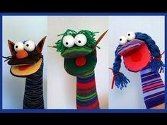 Como hacer una marioneta con un calcetin facil