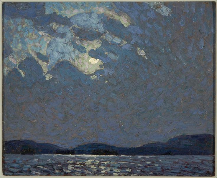 Tom Thomson Moonlight Over Canoe Lake, Spring 1916