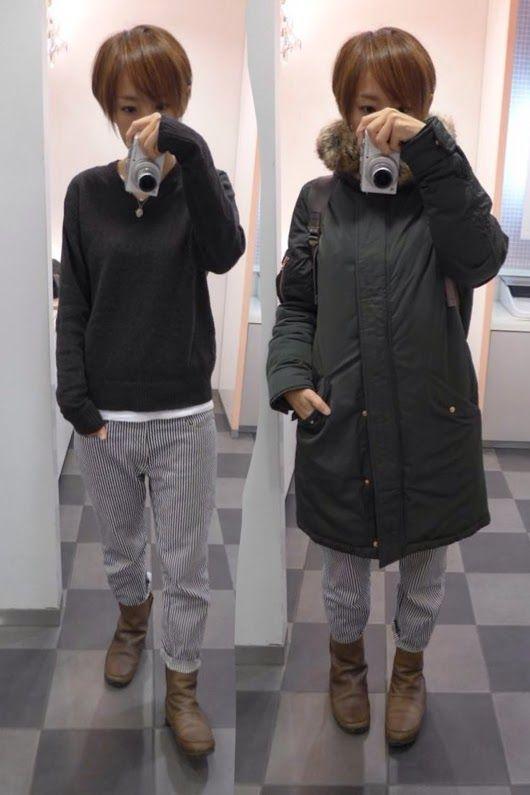 今日も寒い一日でした。 Outer/Filippa K Knit/MUJI Bottoms/Bshop Bag/JAN Sport Shose/none