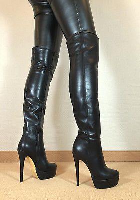 best website 08f21 47edc Gr.43 TOP ! Exklusiv Sexy Damen Schuhe Overknee Stiletto ...