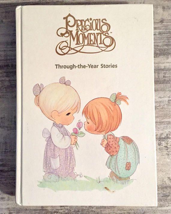 Precious Moments Book Through the Year Stories 1989 #PreciousMoments #SamuelJButcher #Vintagebook #ChildrensBook #Book #Reading #Collectible #KeepsakeBook