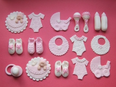 Decoraciones para un baby shower.