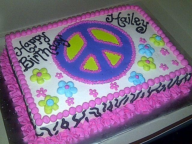 peace sign birthdays cakes | Peace/Flower Birthday Cake | Flickr - Photo Sharing!
