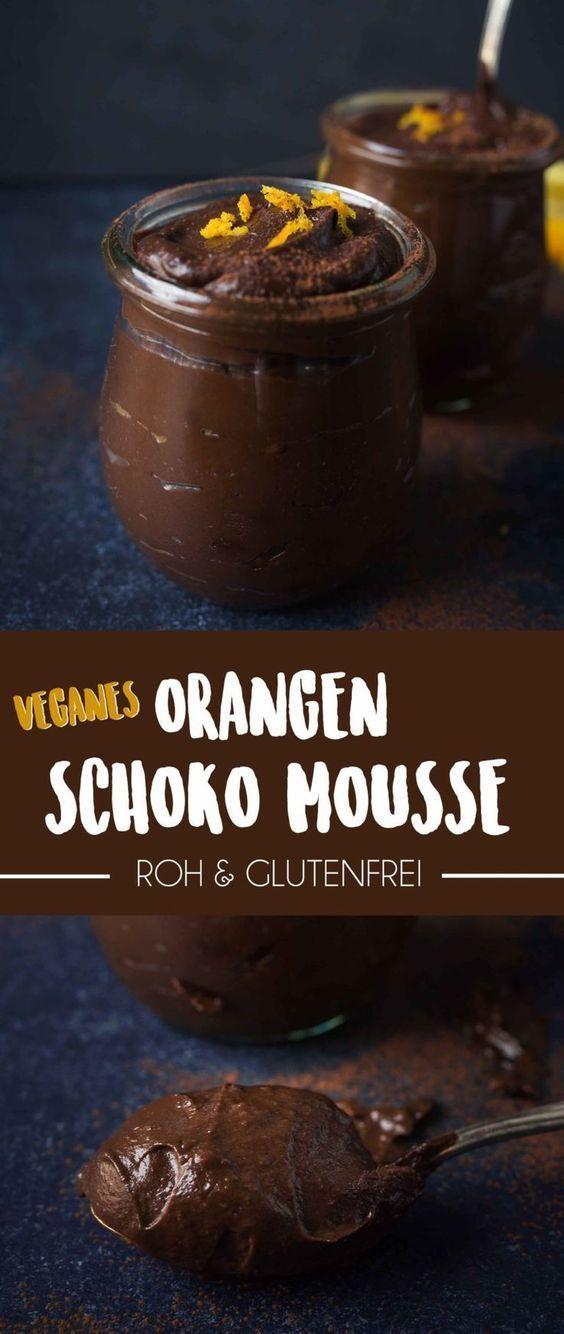 Weihnachtliches Orangen Schokoladenmousse (vegan und glutenfrei)