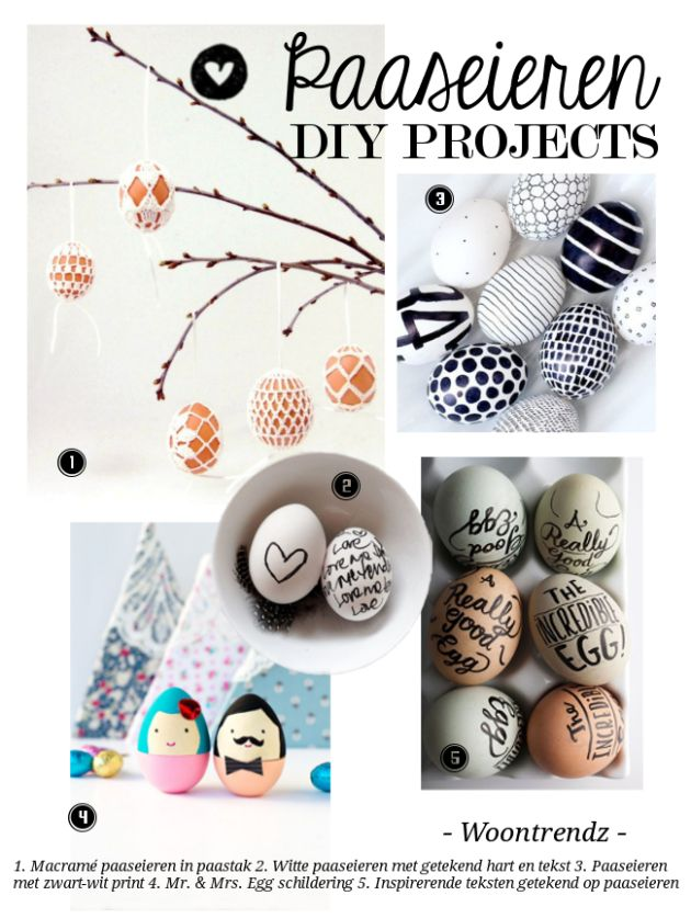 DIY Paaseieren decoraties
