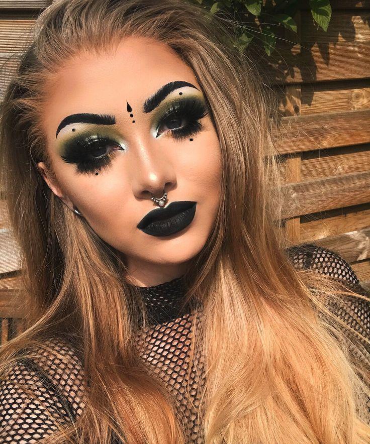 Image may contain 1 person closeup makeup