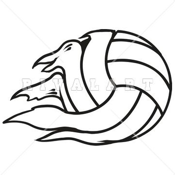 Sports Clipart Image of Black White Tearing Torn Ripping Volleyball Graphic Digital File Design http://www.rivalart.com/cart/pc/viewCategories.asp?idCategory=33&opid=5