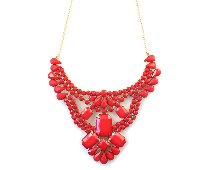Wholesale Trendy Red Beads Decorated Necklace For Women (RED), Necklaces - Rosewholesale.com