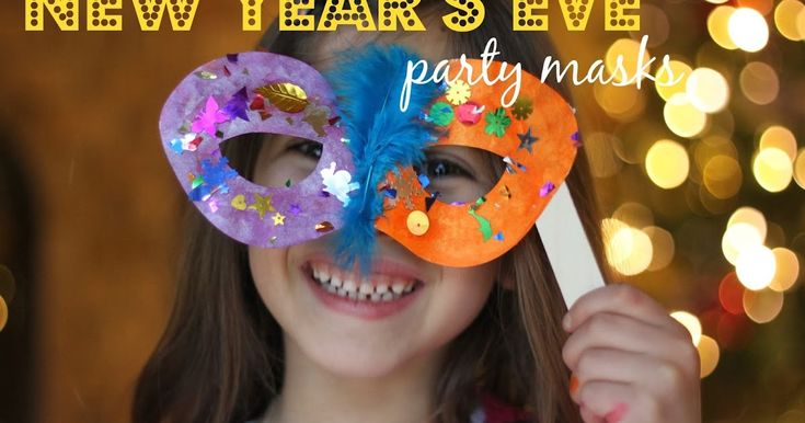 I love DIY party accessories. It's great to see what each child creates. For New Year's Eve you can't go wrong with some fun masks. ...