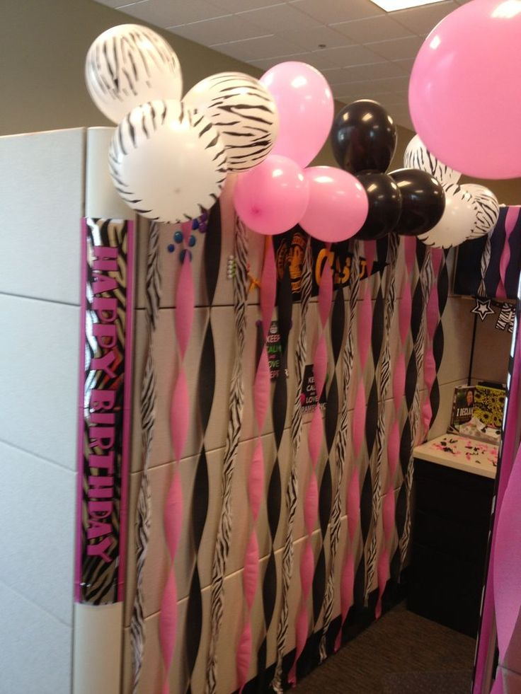 12 best cubical birthday decorations images on Pinterest