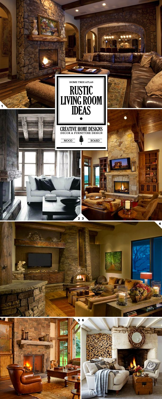 1000 Ideas About Rustic Living Rooms On Pinterest