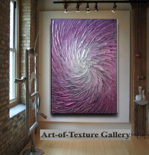 Painting big custom original abstract texture modern for Texture painting ideas canvas