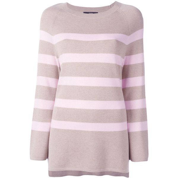 Steffen Schraut striped jumper featuring polyvore women's fashion clothing tops sweaters red jumpers sweaters pink striped sweater steffen schraut pink striped top striped jumper