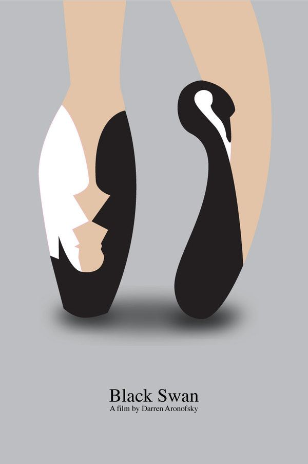 Minimalist Movie Poster: Black Swan I haven't seen it, but this is so cool