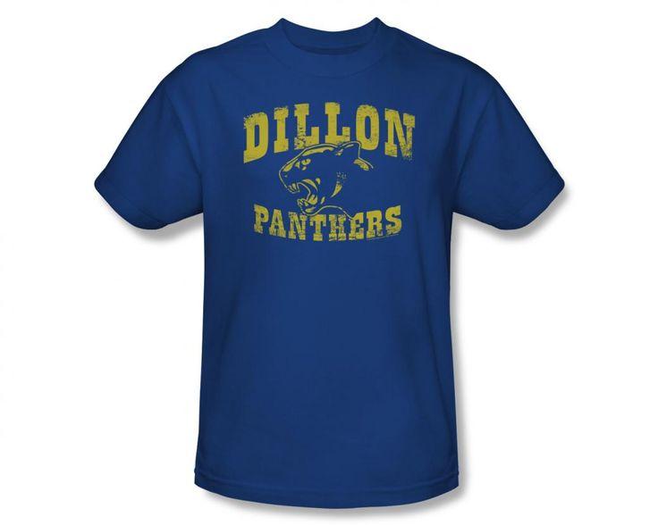 Mens Friday Night Lights Dillon Panthers Distressed Logo Tee Shirt