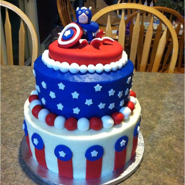 Captain America Birthday Cake Photos