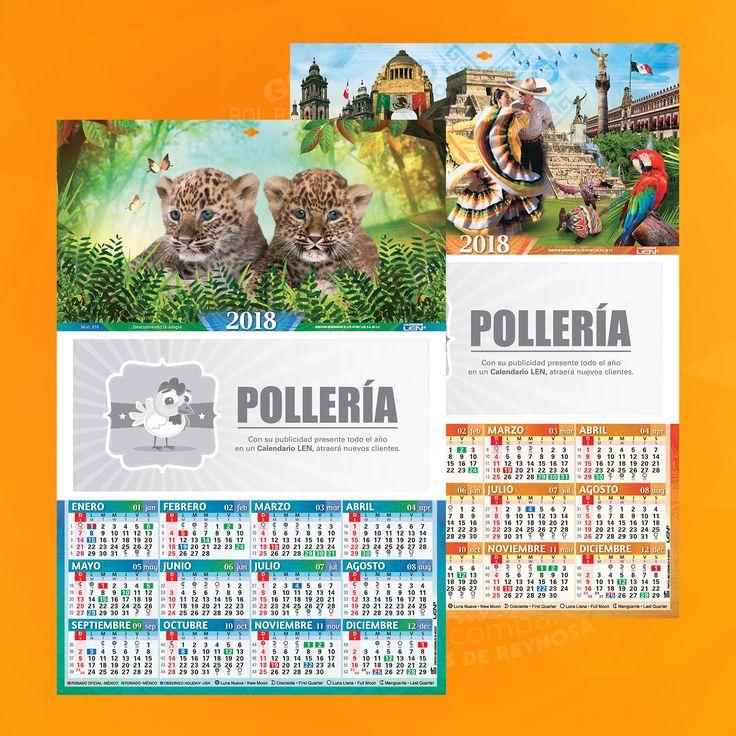Calendario de cartulina con 24 modelos de tamño 23 x43 cm.  Cartulina sulfatada con barniz UV y ojillo para colgar.