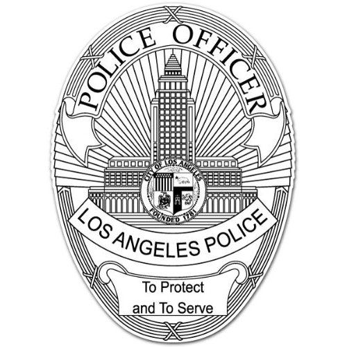 Los Angeles Police Department LA Police Officer Sticker 4