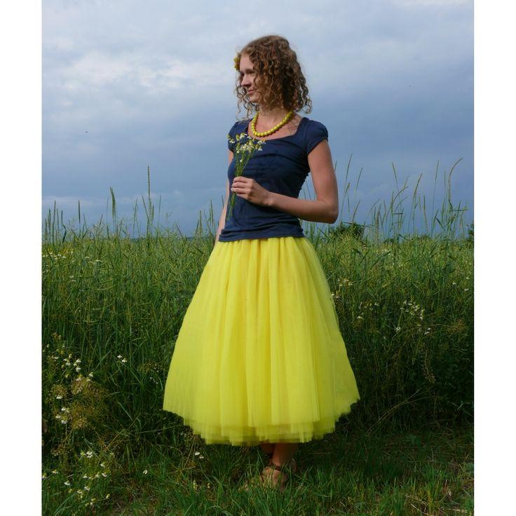 Tylové sukně | dlouhé | Žlutá tylová sukně | Princezna Pampeliška e-shop