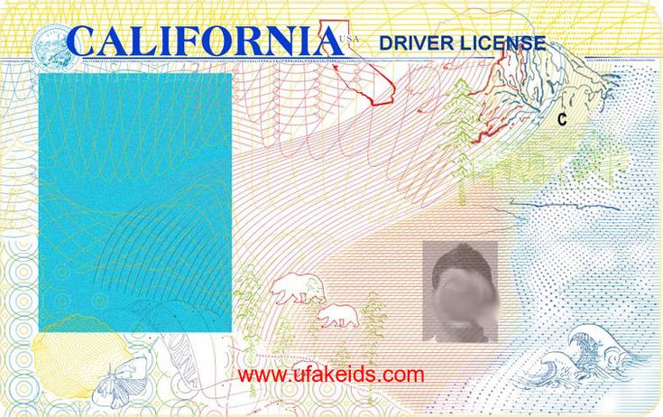 New california id template