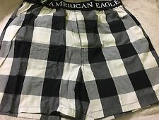 Black And White Plaid American Eagle Boxers S